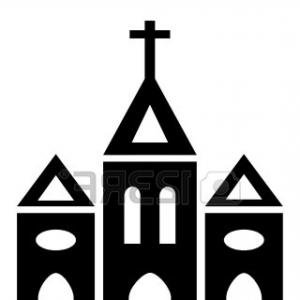 Best Stock Vector Flat Church Vector Icon Religion Building.