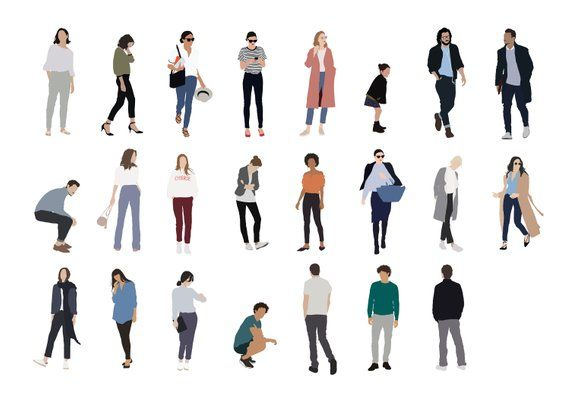 23 People Package Vector Clipart PNG AI Human Person.