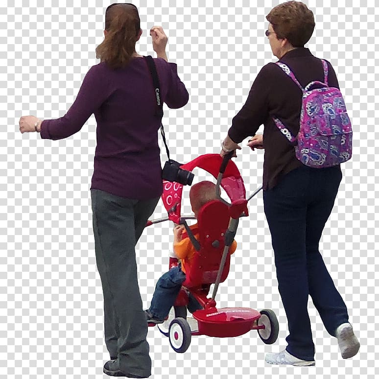 Lady with Stroller Architecture Architectural rendering.