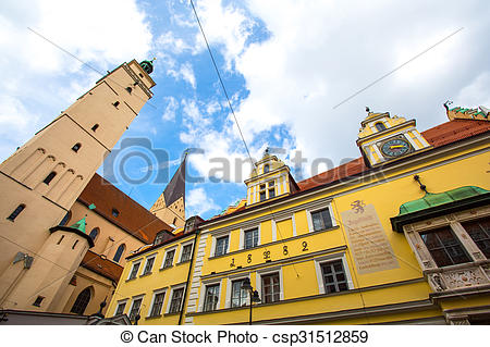 Stock Images of Historic Architecture in Ingolstadt.
