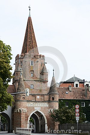 Ingolstadt.street Royalty Free Stock Photo.