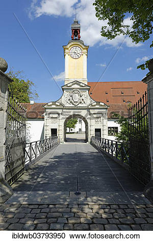 "Stock Photography of ""Gateway building, New Castle, Ingolstadt."