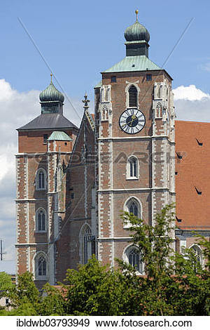 """Stock Photograph of """"Church of Our Lady, Ingolstadt, Upper Bavaria."""