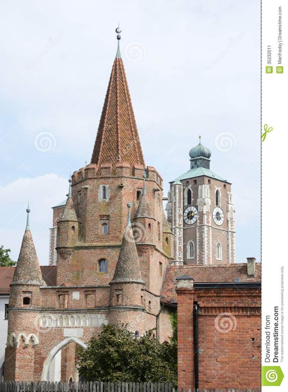 Ingolstadt City Gate Stock Image.