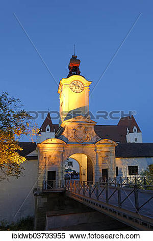 "Stock Image of ""Torturm gate tower, New Castle, Ingolstadt, Upper."