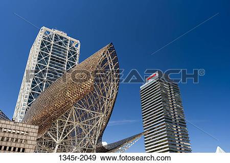 Stock Photograph of Spain, Barcelona, La Barceloneta, Olympic.