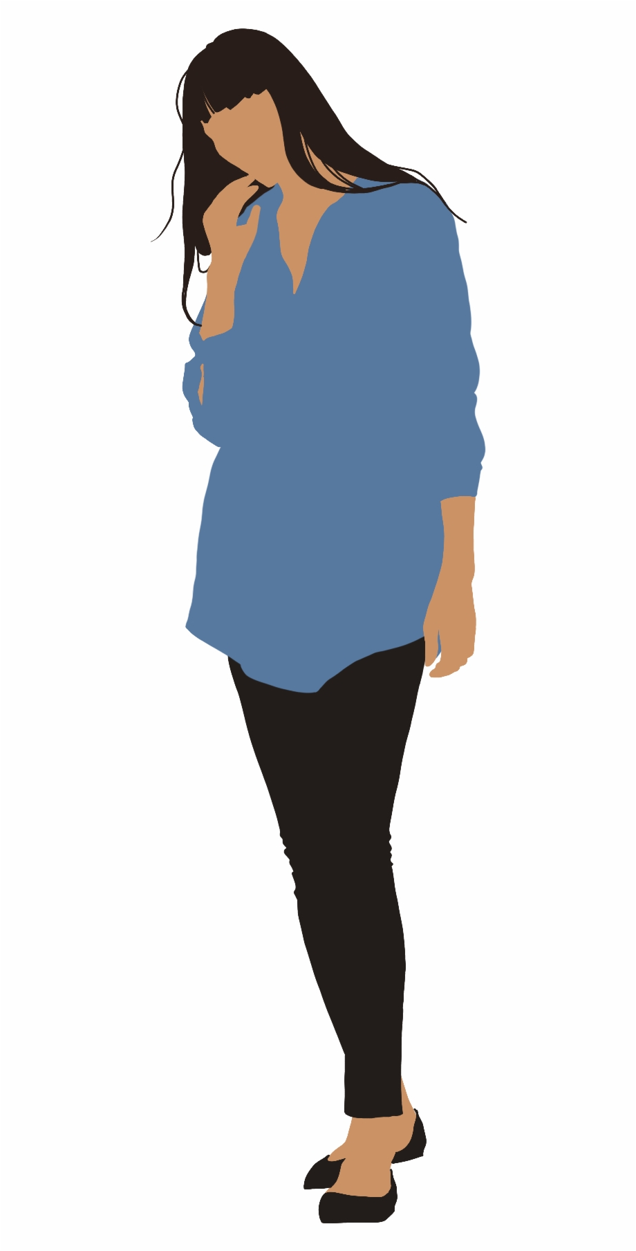 People Flat Illustration On Behance Cut Out People,.