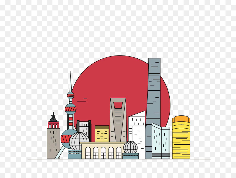 Silhouette City png download.