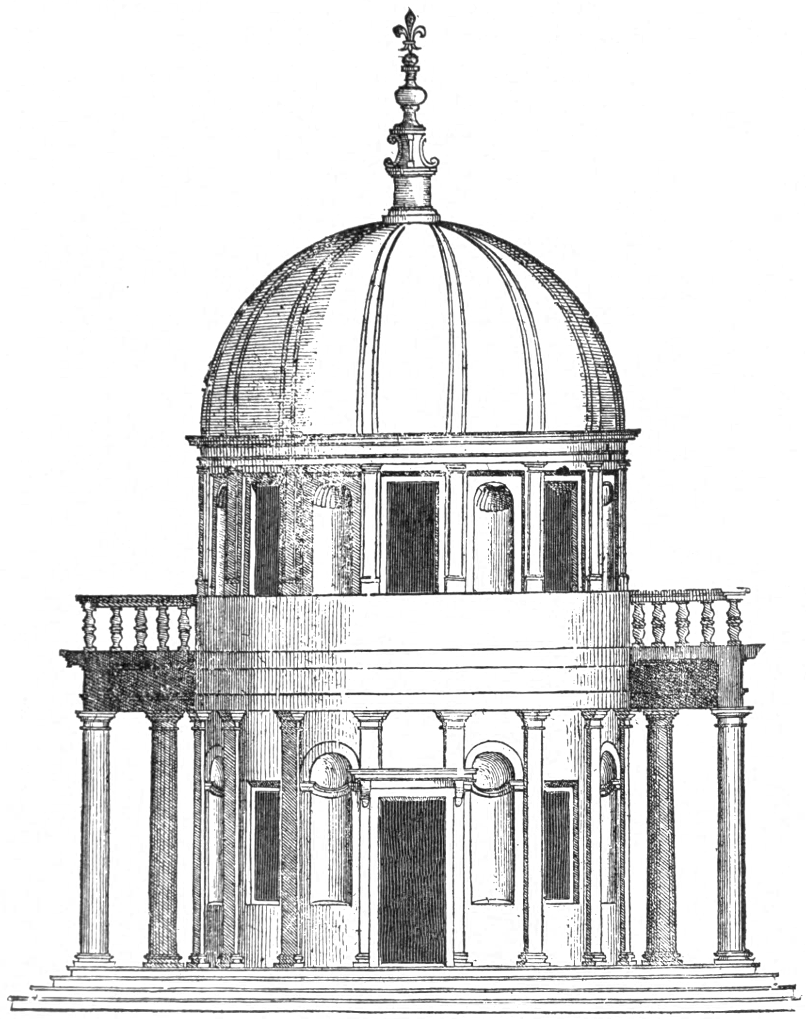 File:San Pietro in Montorio, from Serlio (Character of Renaissance.