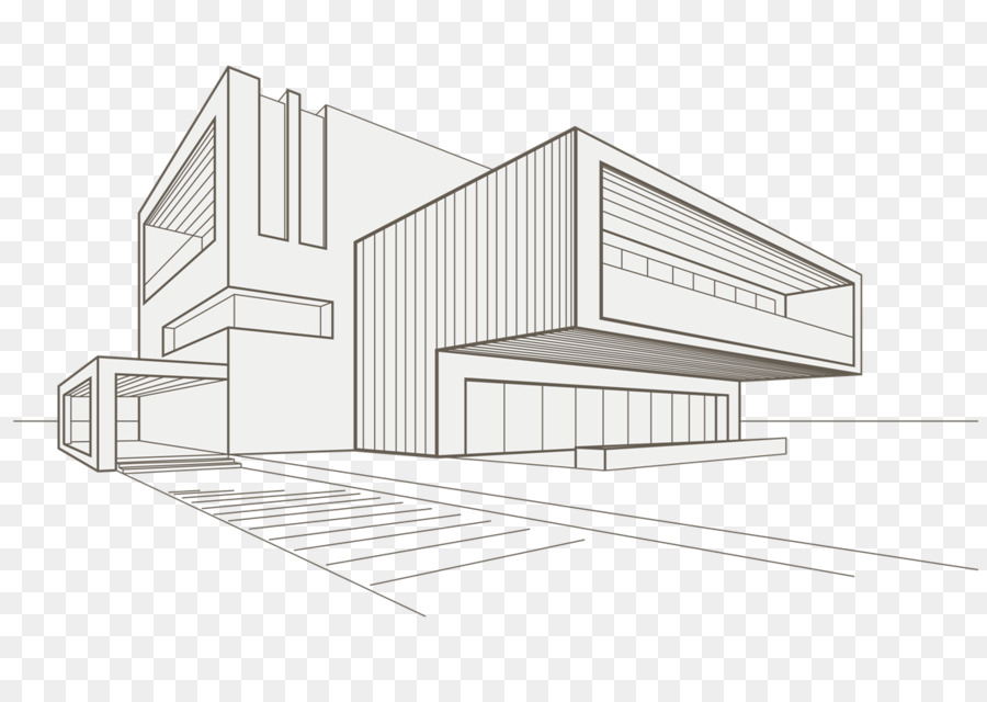 Drawing Building Architecture Sketch.
