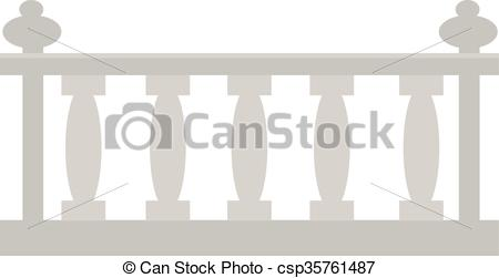 Vector of Vintage railing made of stone or gypsum architectural.