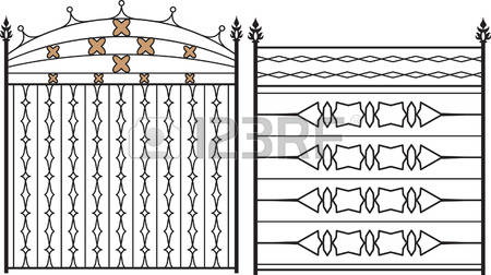 794 Rail Fence Stock Vector Illustration And Royalty Free Rail.