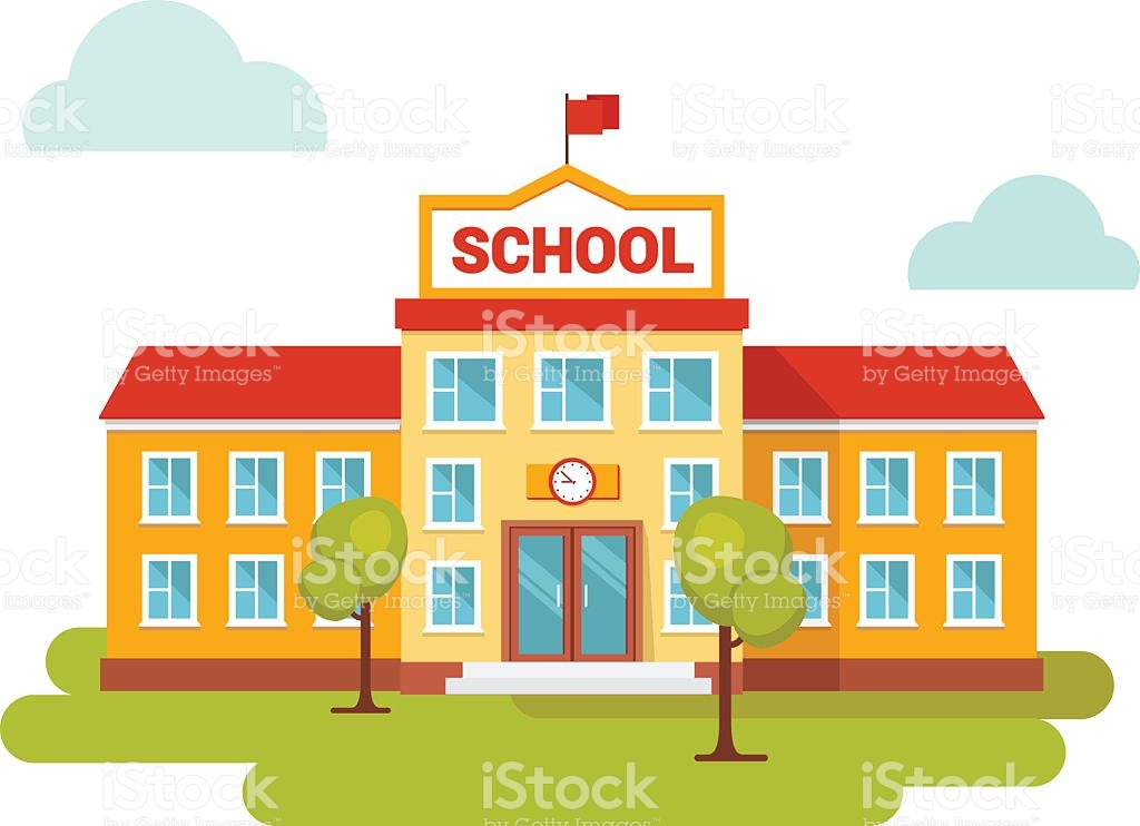 1531 School Building free clipart.