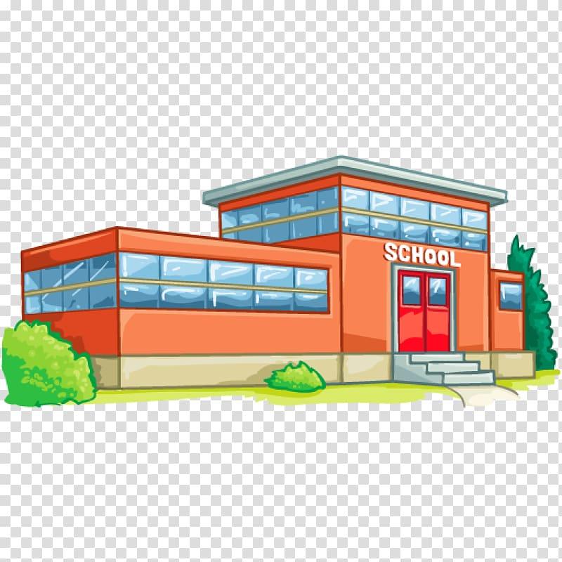 Orange school illustration, High school School district.