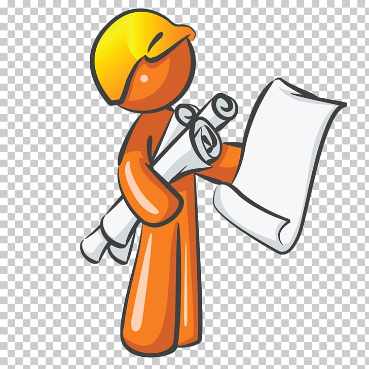 Architecture Blueprint Drawing , Industrial Worker PNG.