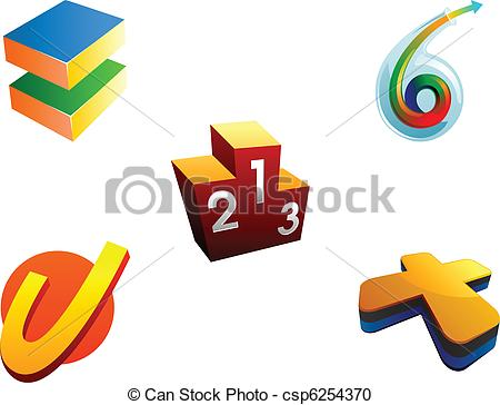 Vector Clipart of achievement logo imagemarks.