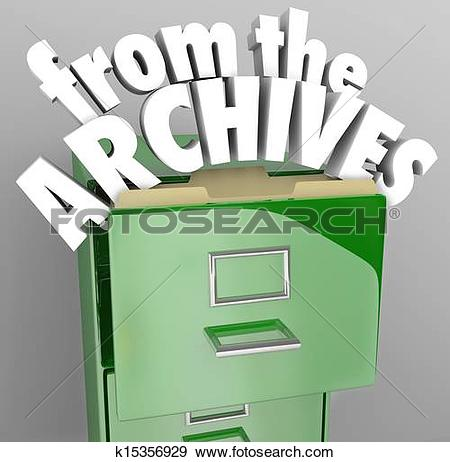 Stock Illustration of From the Archives File Cabinet Retrieve.