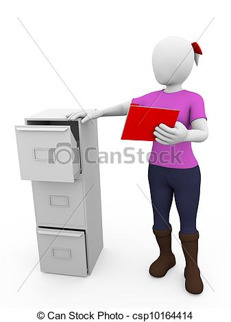 Clipart of drawer woman.
