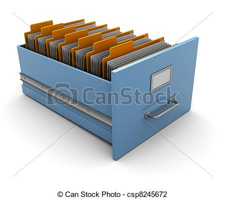Clip Art of archive box.