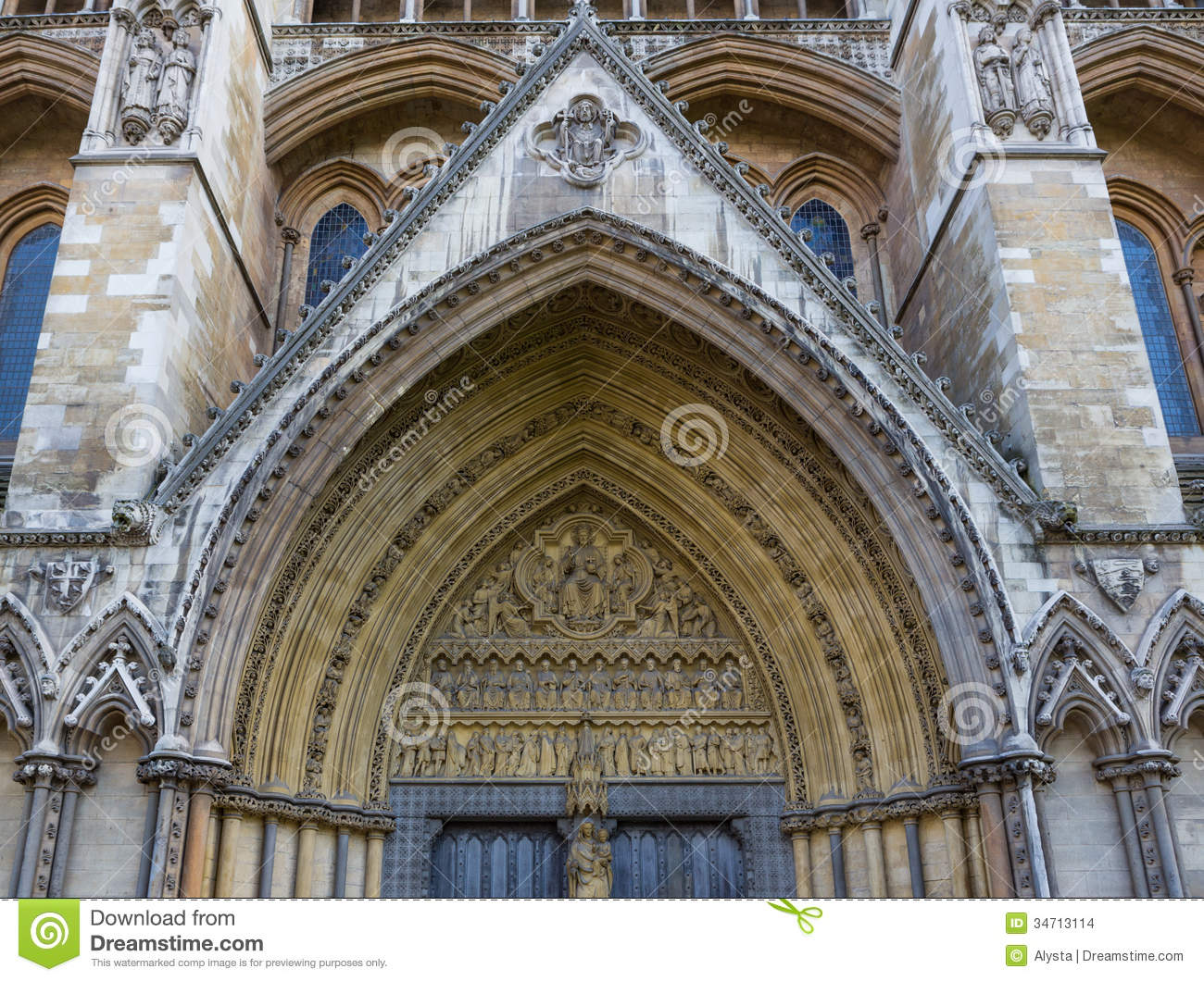 Side Entrance To Westminster Abbey Stock Images.