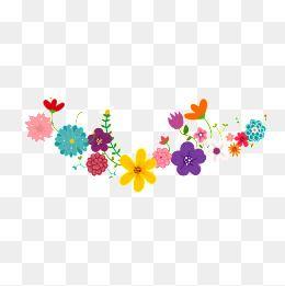 Corona De Flores De Color, Clipart De Flores, Corona, Flores.