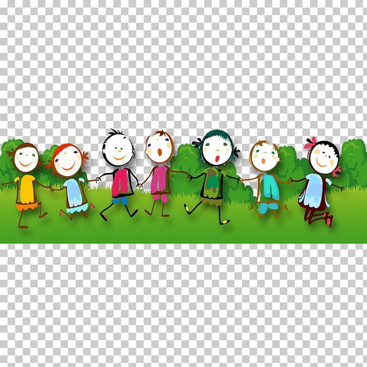 Juego infantil gratis archivo de computadora, niños felices.
