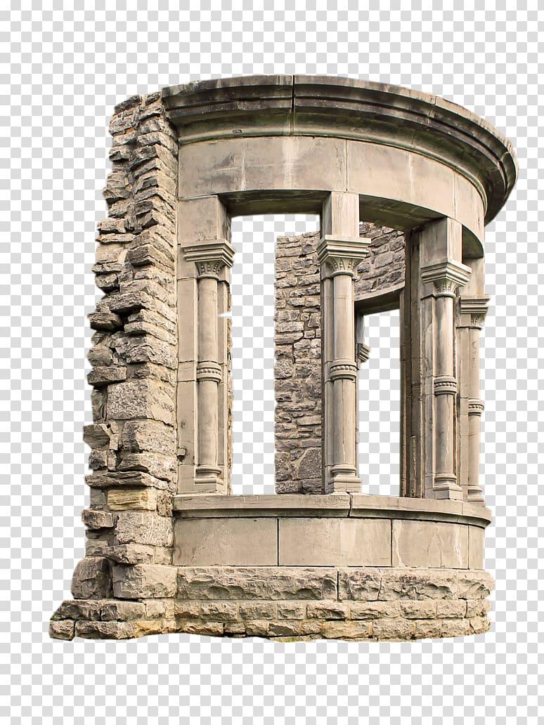 Monument Historic site Statue Roman temple, archway transparent.