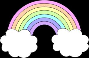Pastel Rainbow Clip Art.