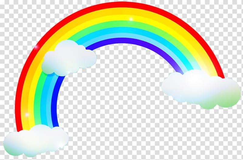 Unicornios Y Arcoiris, rainbow on clouds art transparent.