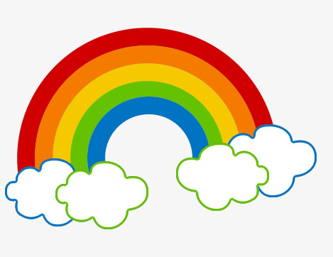 Download Free png Clouds And Rainbow, Baiyun, Rainbow.