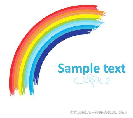 Clip art e grafiche vettoriali gratuite di Bandiera arcobaleno curvi.