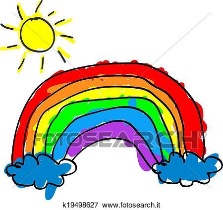 Bambino, arcobaleno Clip Art.