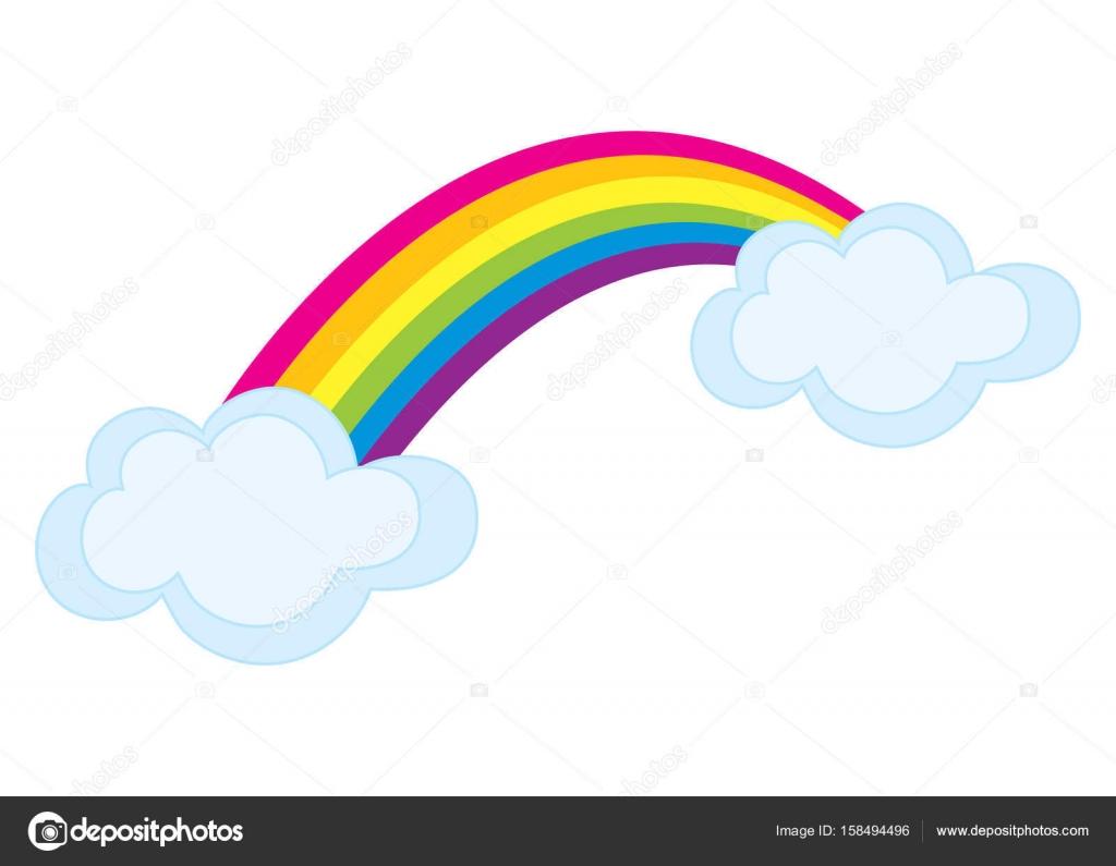 Vettore: arcobaleno colorato. Vettore colorato arcobaleno con le.