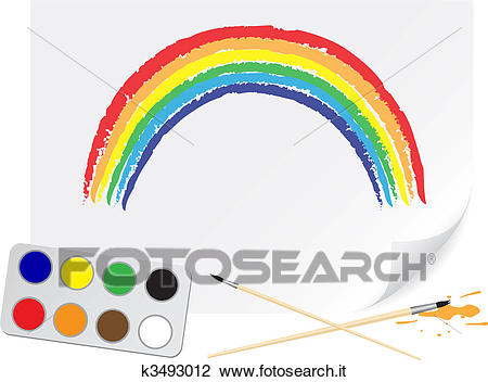 Disegno, arcobaleno Clipart.