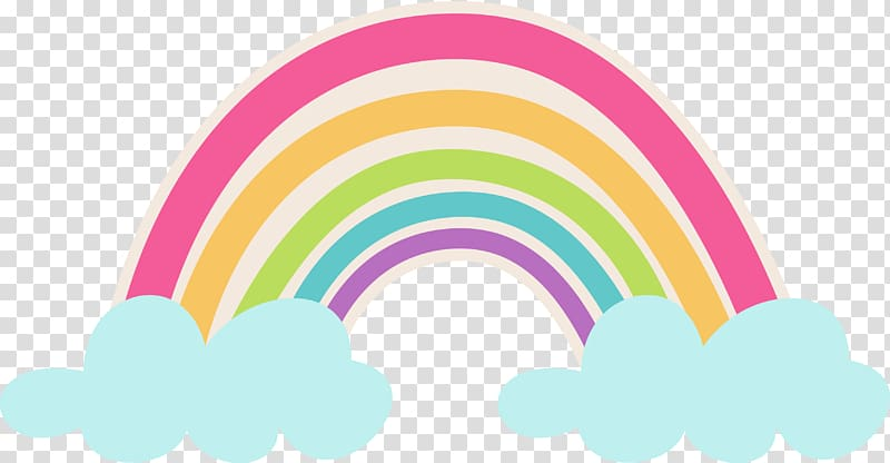 Rainbow illustration, Rainbow Cloud Arc, arco.