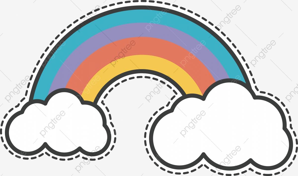 Hermoso Puente Del Arco Iris, Vector Png, Rainbow, Arco Iris Sobre.