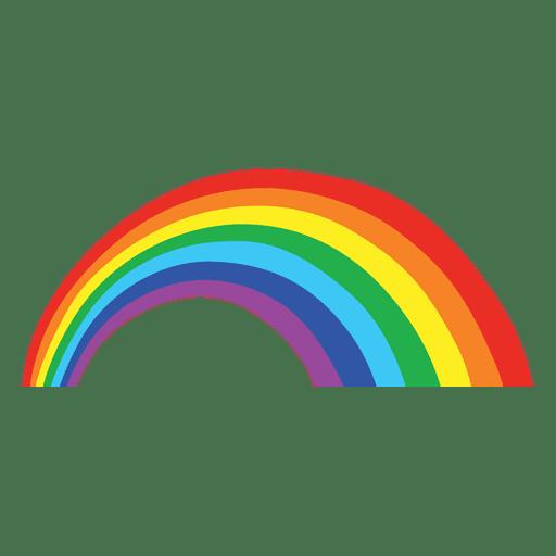 Colorful rainbow cartoon.