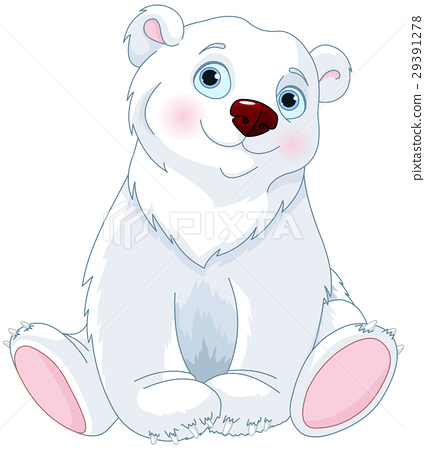 Sitting Polar Bear.