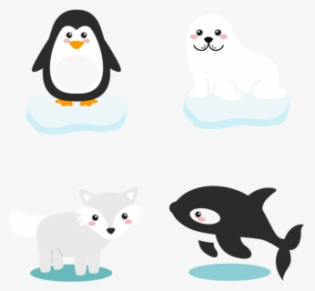 Free Arctic Animals Clip Art with No Background.