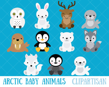 Arctic Animals Clip Art, Polar Animals.