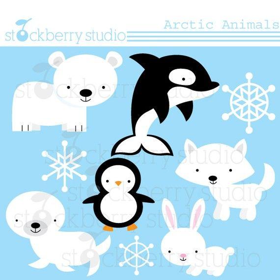More super cute arctic animal clip art purchase.