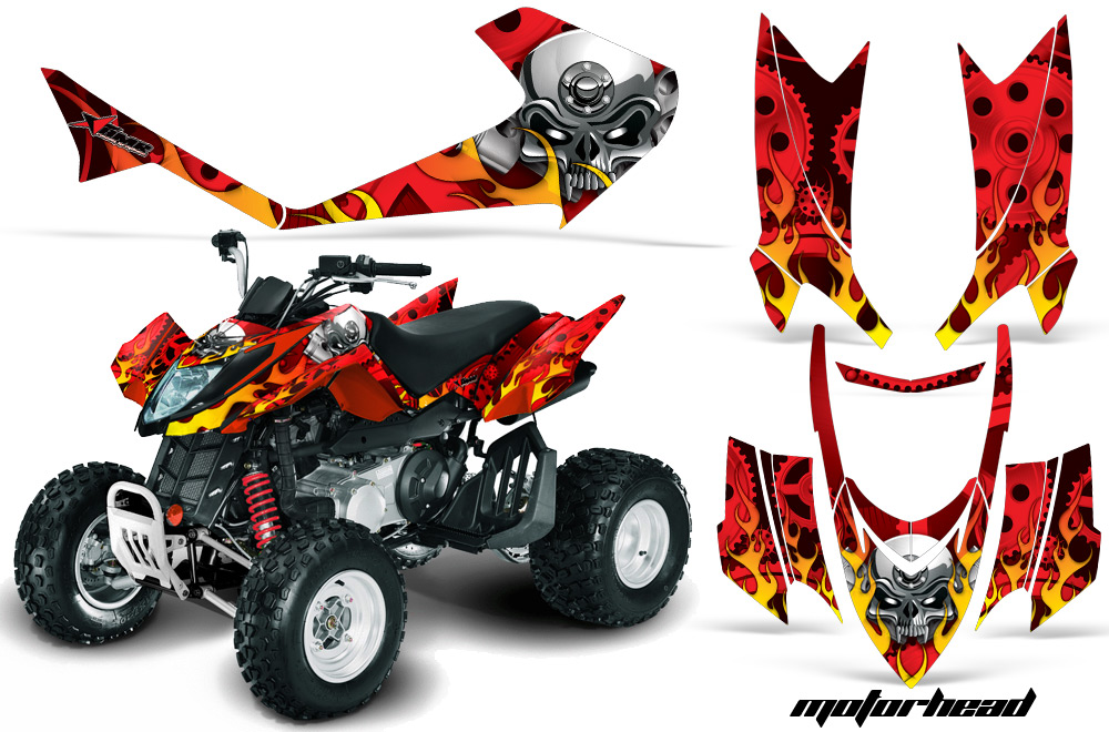 Arctic Cat DVX 400/300/250 ATV Quad Graphic Kit.