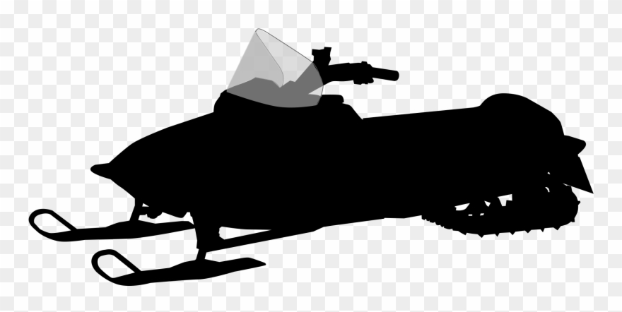 Free Snowmobile Silhouette.