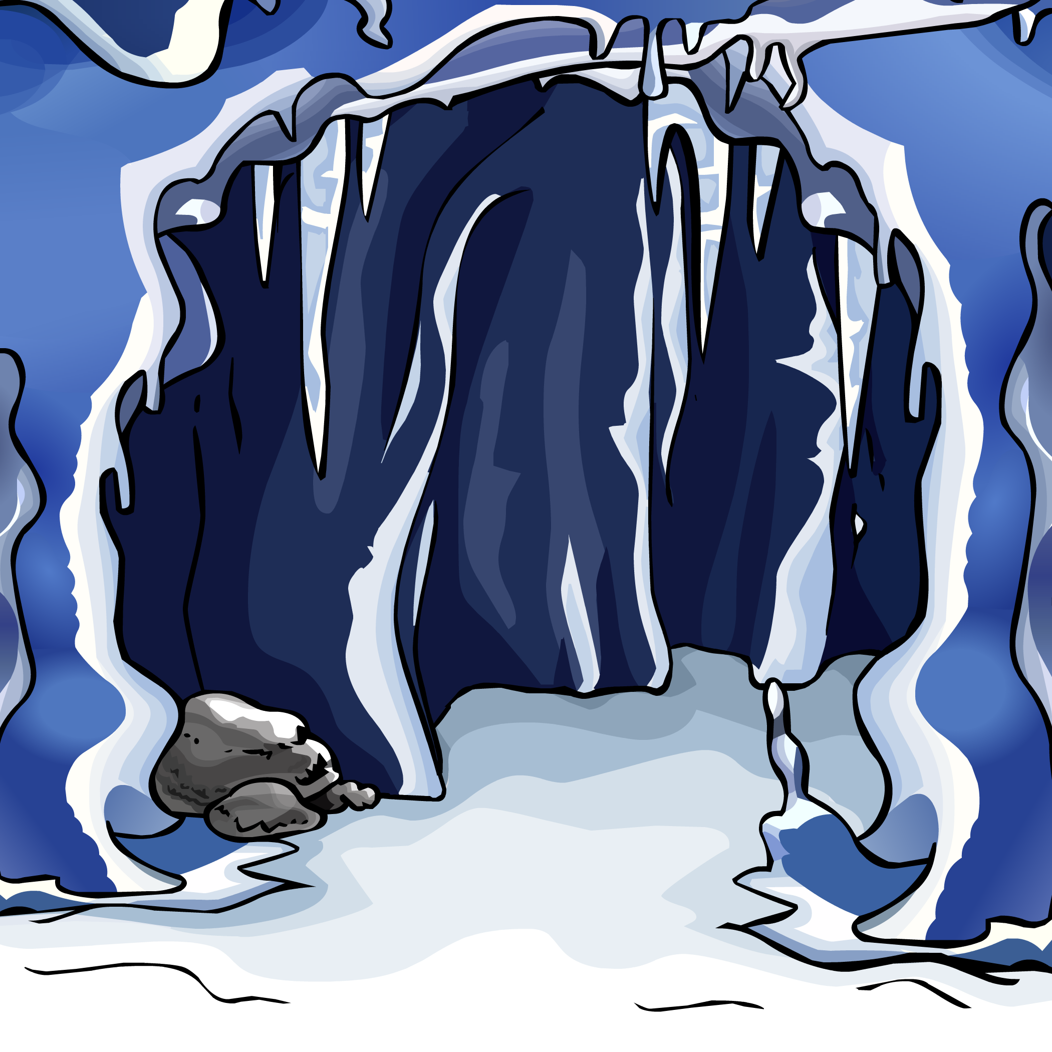 Cave clipart ice cave, Cave ice cave Transparent FREE for.