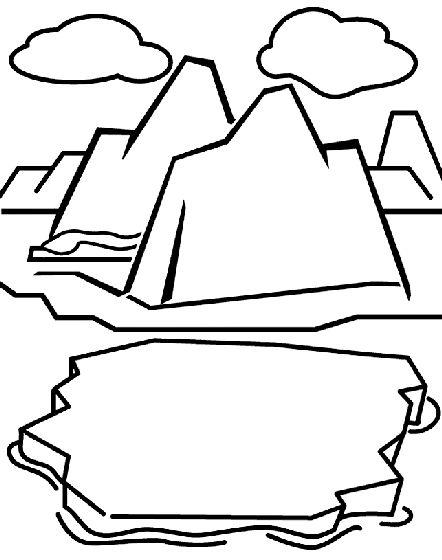 Glacier coloring page.