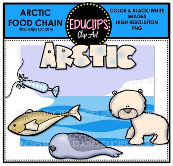 Arctic Food Chain Clip Art Mini Bundle {Educlips Clipart}.