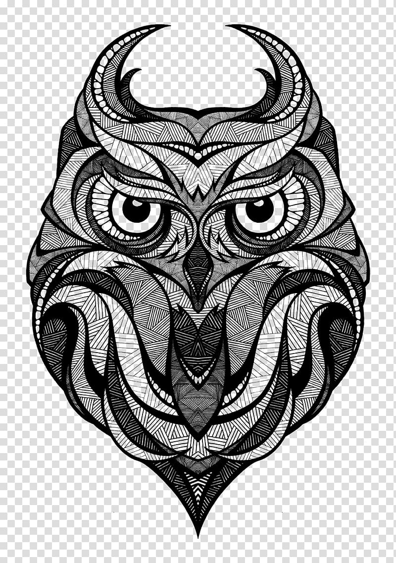 Owl Drawing Art Arctic fox, owl transparent background PNG.