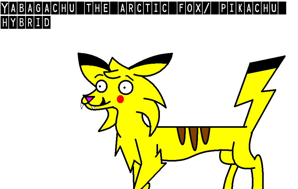 Yabagachu the Arctic fox/ pikachu hybrid by TayaTheHybrid.