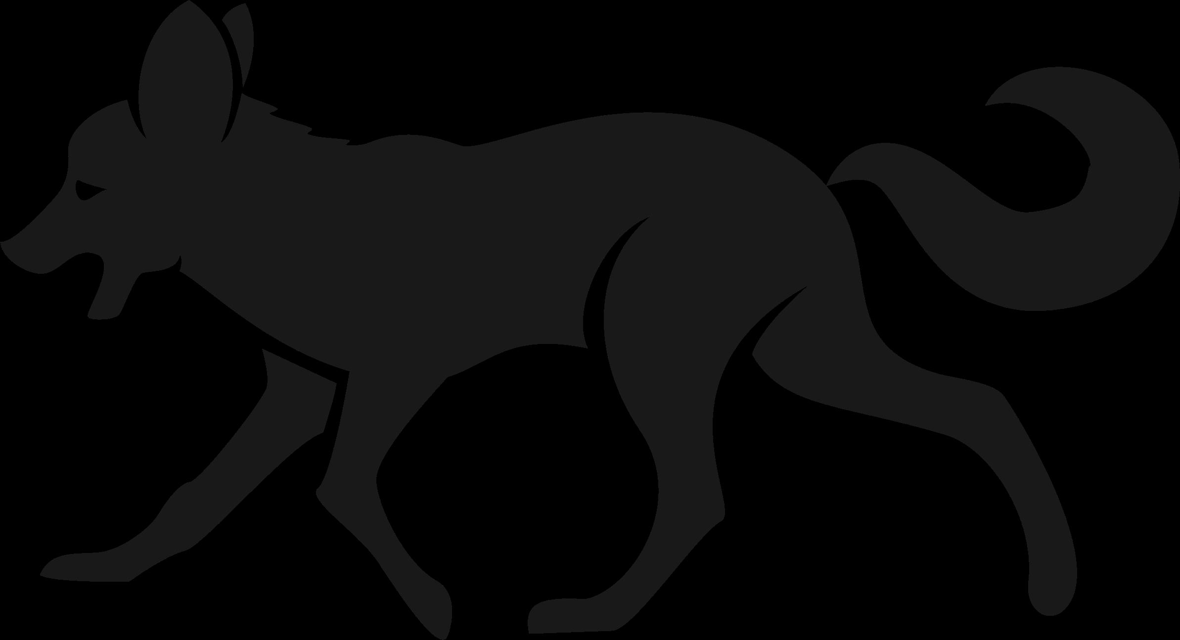 Red fox Silhouette Clip art.