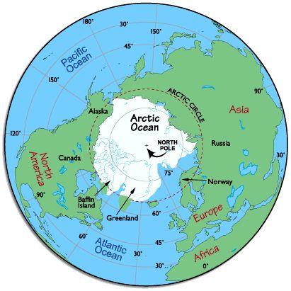 Polar Arctic Map Transparent & PNG Clipart Free Download.